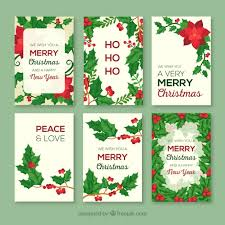 christmas greeting cards collection of christmas greeting cards with poinsettias vector