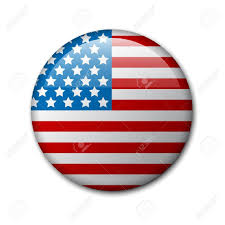 Independence Flag Badge With American Flag Independence Day Badge Royalty Free