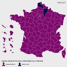 National Election Results Map by French Election Results Map Votes For Macron And Le Pen