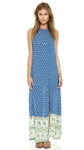 faithfull the brand mirror door maxi dress indigo paisley print