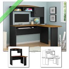 O Sullivan Computer Desk With Hutch by Home Office Furniture Medina L Shaped Desk Gallery For Home