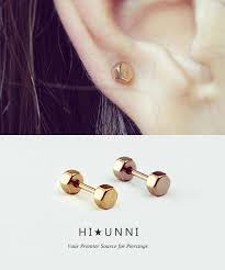 gold cartilage earrings earrings for cartilage studs spininc rings