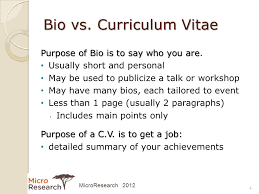 Resume Vs Vita Developing Your Curriculum Vitae Ppt Download