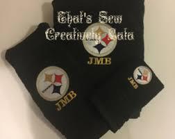 Pittsburgh Steelers Bathroom Set Bath Towel Set Etsy
