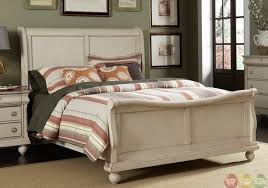 furniture white rustic traditional bedroom furniture with sleigh