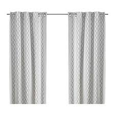 Curtains White And Grey Henny Rand Curtains 1 Pair White Gray Yellow Ikea