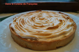 cuisine tarte au citron tarte au citron meringuée dans la cuisine de françoise
