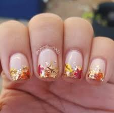 must try fall nail designs and ideas 2017 gold glitter orange
