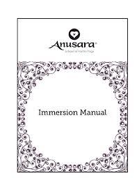 ashy manuals anusara of hatha yoga