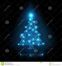 christmas tree from digital circuit royalty free stock images