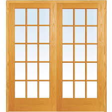 home depot interior french doors builder u0027s choice 60 in x 80 in 15 lite clear wood pine prehung