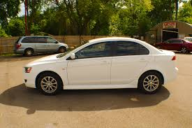 white mitsubishi lancer 2011 mitsubishi lancer white spider drive sedan sale