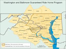 washington dc region map areas of service commuter connections