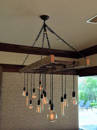ladder pot rack converted chandelier by client