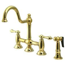kingston brass ks3791albs restoration kitchen faucet polished