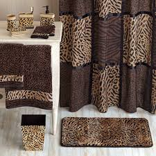 animal print bathroom ideas cheetah shower curtain home design ideas and pictures