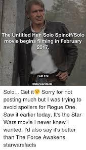 Solo Memes - 25 best memes about han solo han solo memes