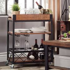 ashburne espresso rustic bar cart homehills bar carts bars u0026 bar