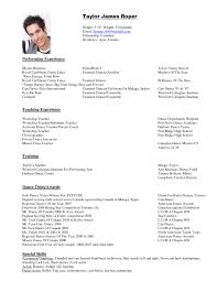 Best Resume Templates With Photo by Dance Resume Template Template Idea