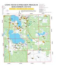 Michigan County Maps by Spray Season Maps Roscommon County Mi