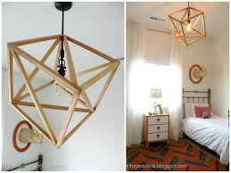 Diy Chandelier Ideas by Nine Red How To Wooden Cube Chandelier
