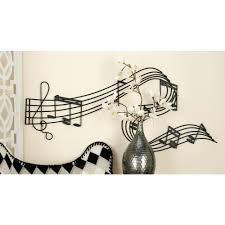Music Note Decor Iron Black And Gold Music Note Wall Decor 30058 The Home Depot