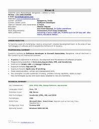 Sap Abap Fresher Resume Sample by Fresh Sap Programmer Sample Resume Resume Sample