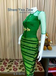 135 best myanmar traditiional dress images on pinterest