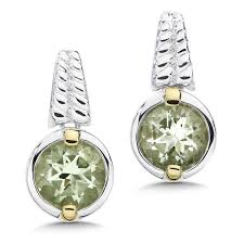 green amethyst earrings shop by designer lorenzo green amethyst earrings in 18k gold