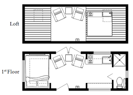 tiny floor plans like this layout with bed downstairs because loft not practical
