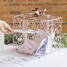 wedding gift card box gold scrolled wire wedding gift card box