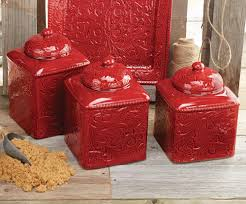 Black Canister Sets For Kitchen Savannah Red Canister Set 3 Pcs