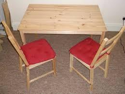 ivar hacks ikea ingo table and 2 ikea ivar chairs with ikea malinda cushions