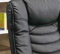 leatherette modern swivel recliner chair w round base