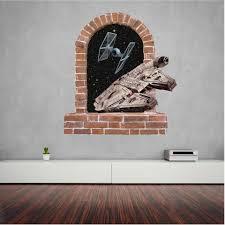 millennium falcon brick window wall stickers decal art og text millennium falcon brick window wall stickers decal
