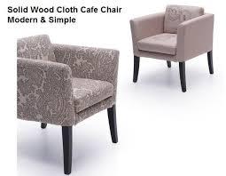 accoudoir canapé en bois massif tissu café chaise nordique café étude arrière