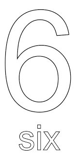 coloring pages for number 6 numbers coloring part