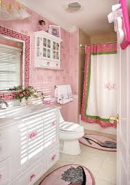 how to decorate bathroom mirror bathroom traditional with pink