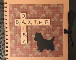 dog scrapbook album pet scrapbook album etsy