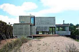 concrete home designs modern house ushers in industrial style with raw concrete and steel