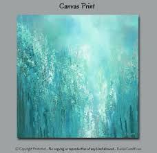 Seafoam Green Home Decor Modern Abstract Wall Art By Denise Cunniff Suitable For Aqua Gray
