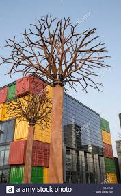 new boxpark retail development in dubai united arab emirates stock