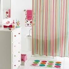 Pink Green Shower Curtain Pink Striped Shower Curtain Foter