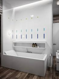 contemporary bathroom decor ideas combined with wooden accents