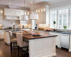 Best House Build Kitchen Elements Images On Pinterest - White kitchen cabinets with butcher block countertops