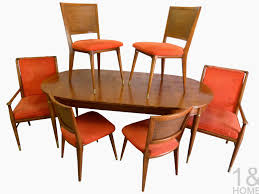 john widdicomb j stuart clingman mid century dining room table chairs