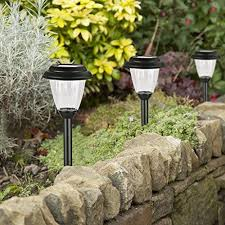solar led stake lights winchance solar pathway lights stainless steel solar led stake