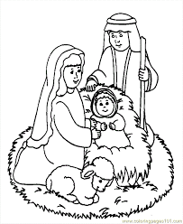 christmas coloring jesus kids coloring