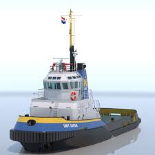 model of harbour tug smit japan