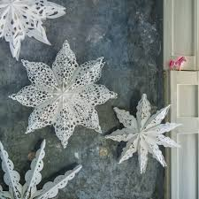 and snowflake paper decorations clearance graham green
